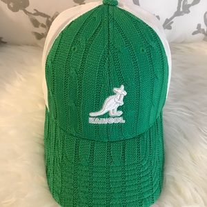 Green and White Flex Fit Kangol Cap